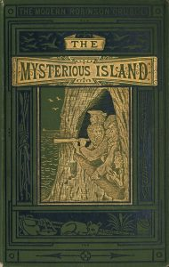 The mysterious island by Jules Verne, noveist, novel, book, writer, author