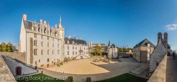 inner walls of the chateau des ducs de Bretagne, Nantes, Loire Valley, France