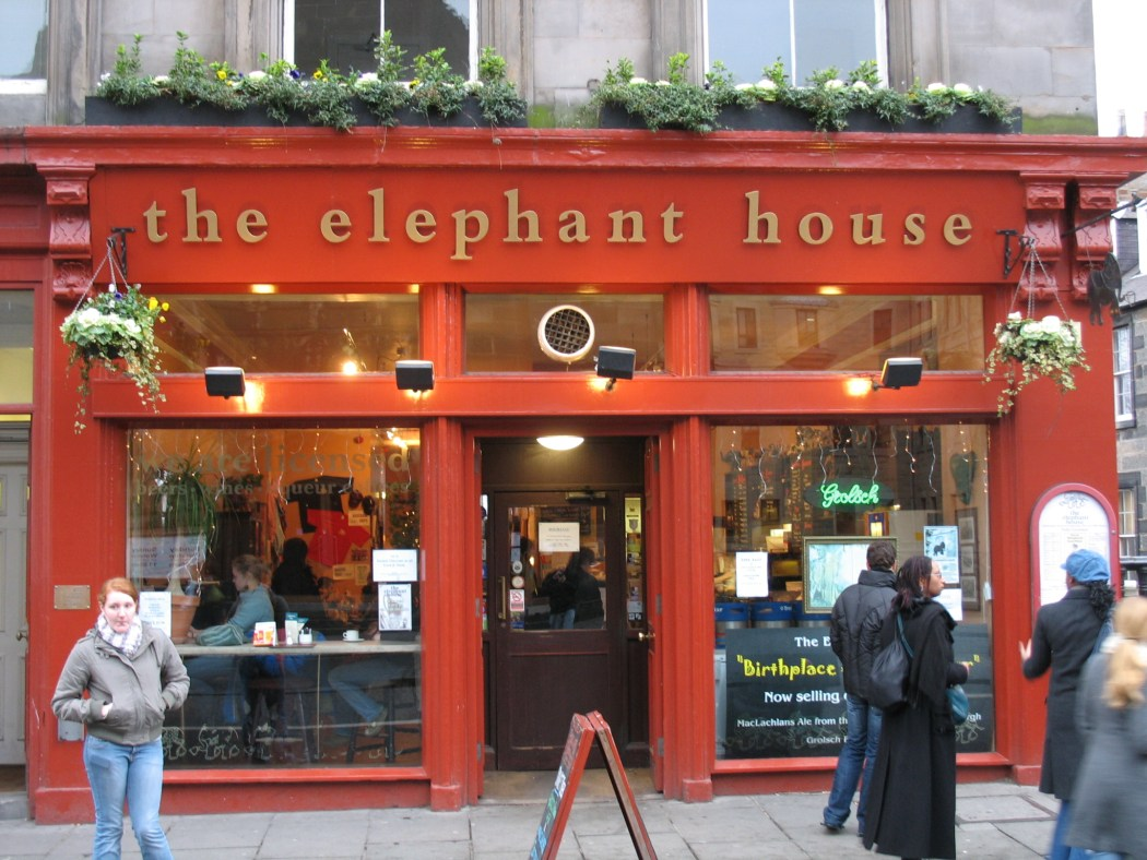 The Elephant house, edinburgh, J,K, Rowling, Writers inspiration
