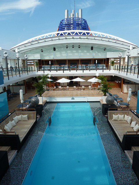 cruise ship pool, cruising, luxury cruising, luxury travel, unique travel, travelling book junkie, cruise ship, view, onboard,