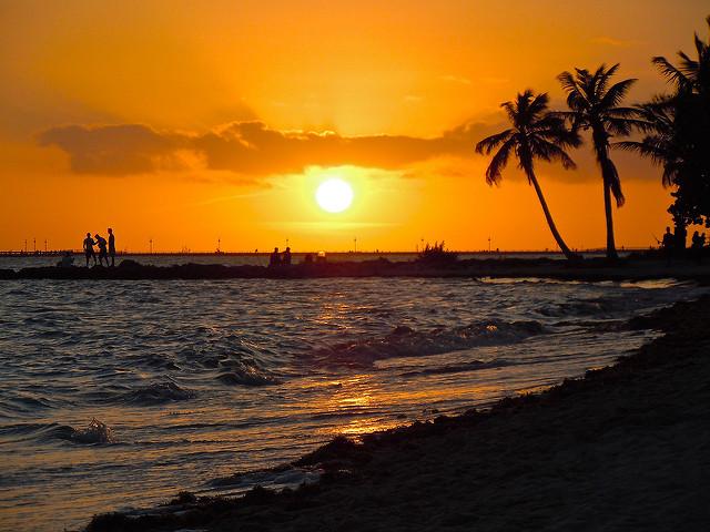 Sunset, Key West Beach, Florida, America, USA, Travel, Travelling Book Junkie