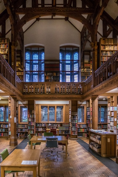 Gladstone's library, william gladstone, quirky accommodation, library stays, prime minister, british, historical, oldest, united kingdom, wales, uk, bedroom, restaurant, famous, world, books, writings, statue, memoirs, literary,