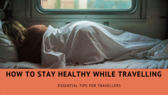 three tips for staying healthy while travelling via @tbookjunkie