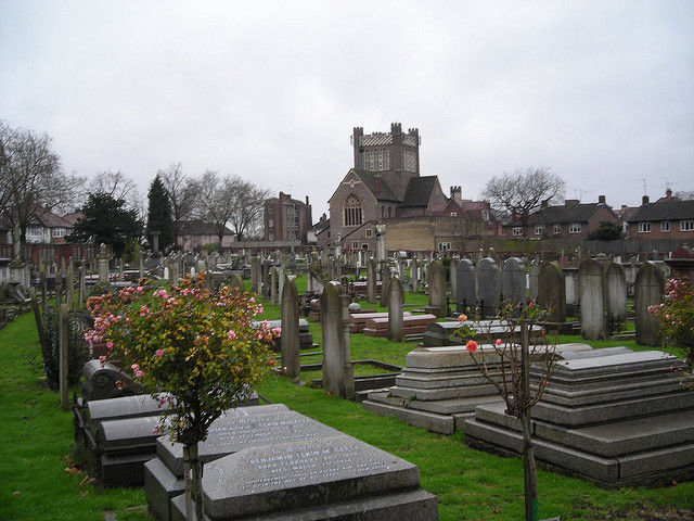 Golders Green Cemetery is where Bram Stoker was cremated.