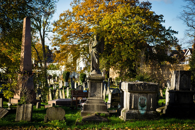 Kensal Green cemetery in London has many gravesites remembering authors and writers.