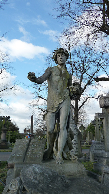 Old Brompton cemetery in London has many gravesites where authors and writers now reside.
