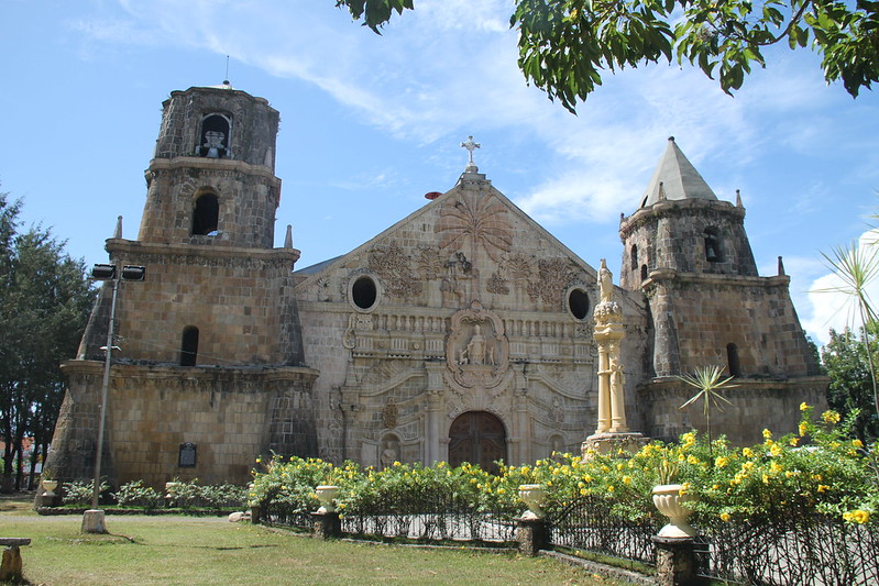 Miagao church, UNESCO world heritage site in the Philippines
