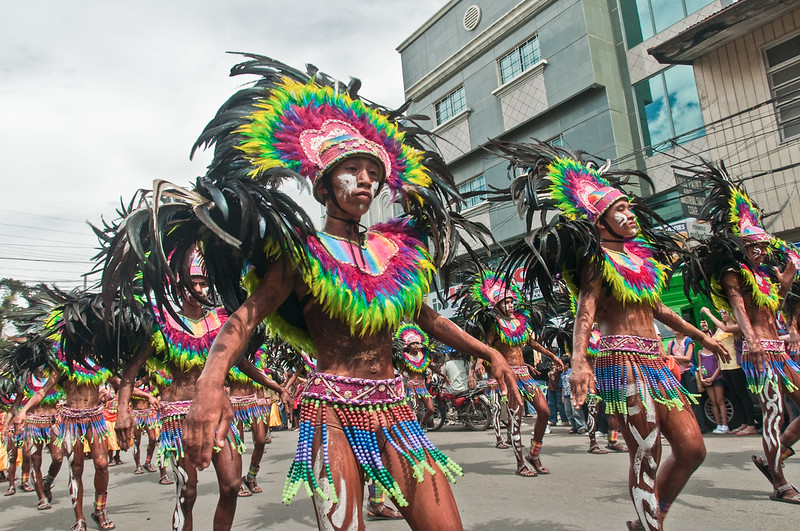 The Dinagyang Festival in Iloilo, in the Phillippines.
