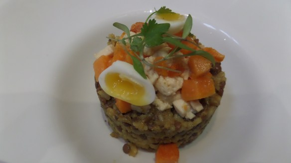 Spicy root veg with puy lentils