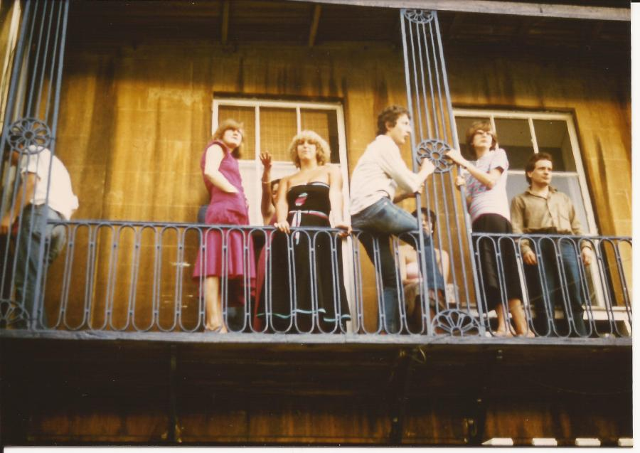 Clifton, Bristol - a balcony party 1979