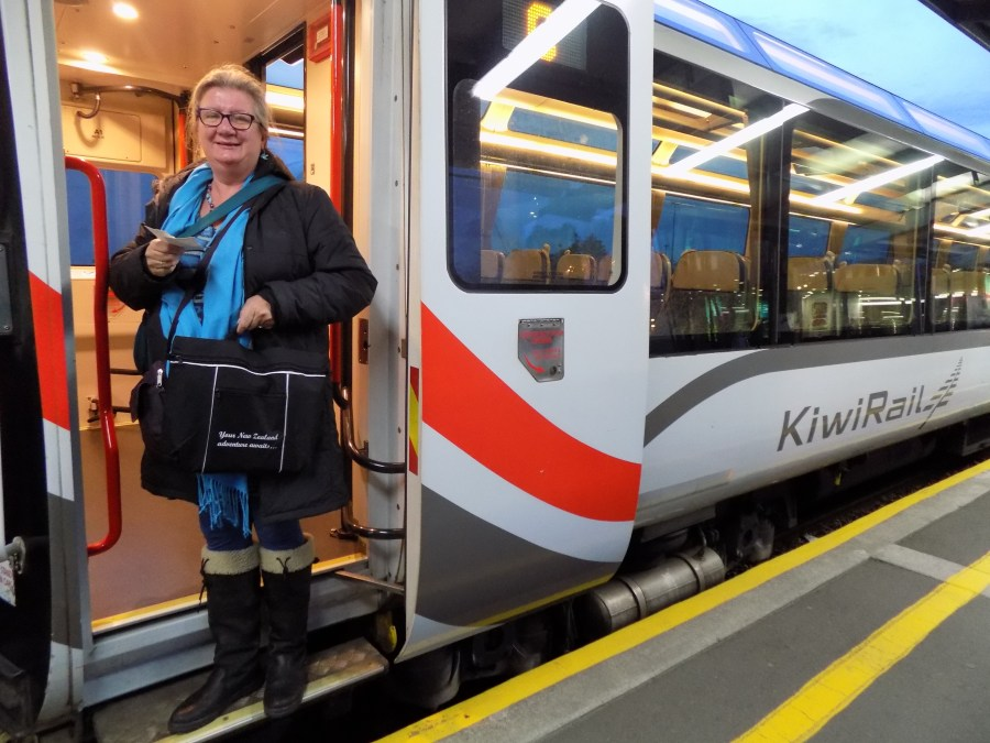 Boarding KiwiRail in Christchurch