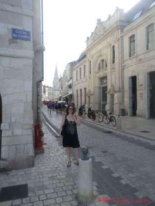 Precioso casco antiguo adoquinado de la Rochelle