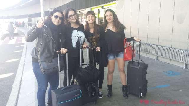 En el aeropuerto de Barajas, a punto de coger el avión para Lisboa