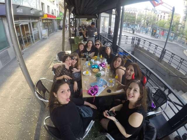 Con las chicas en Madrid, antes del concierto