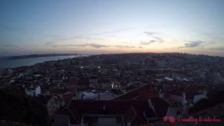 Vistas de toda la ciudad desde lo alto del castillo