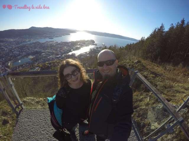Pedazo de vistas desde el monte Floyen