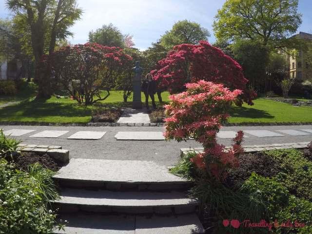 Los jardines de la universidad