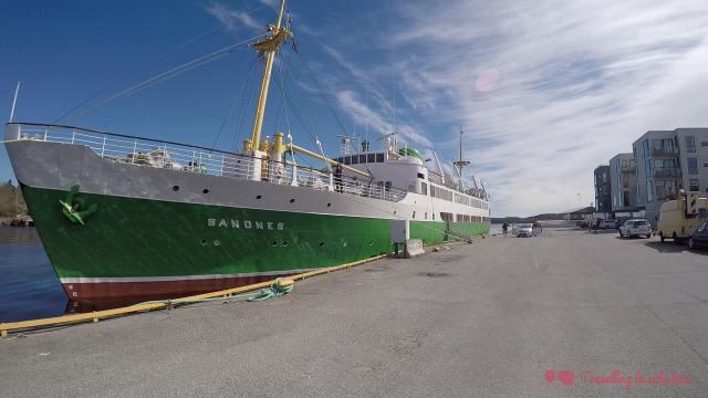 El barco MS Sandnes, nuestro hogar durante el festival