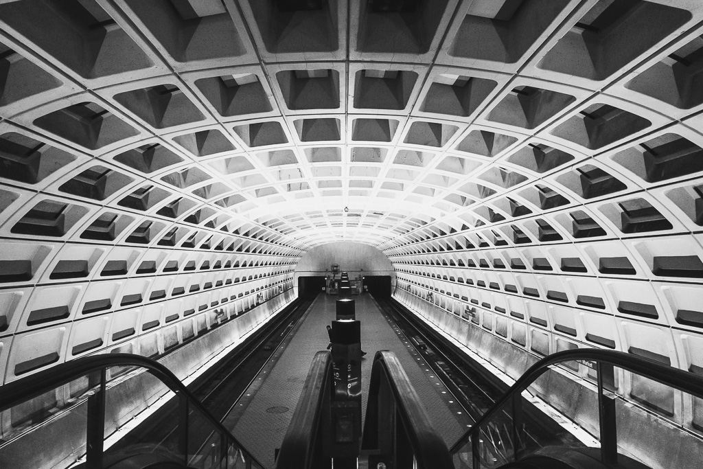 Washington DC Metro Station, Washington DC, USA