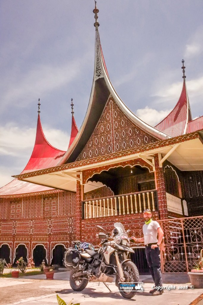 Minang house and Biker