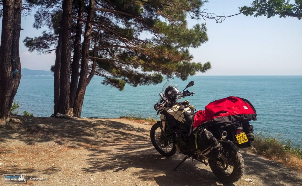 A lay-by on the Black Sea riviera road.