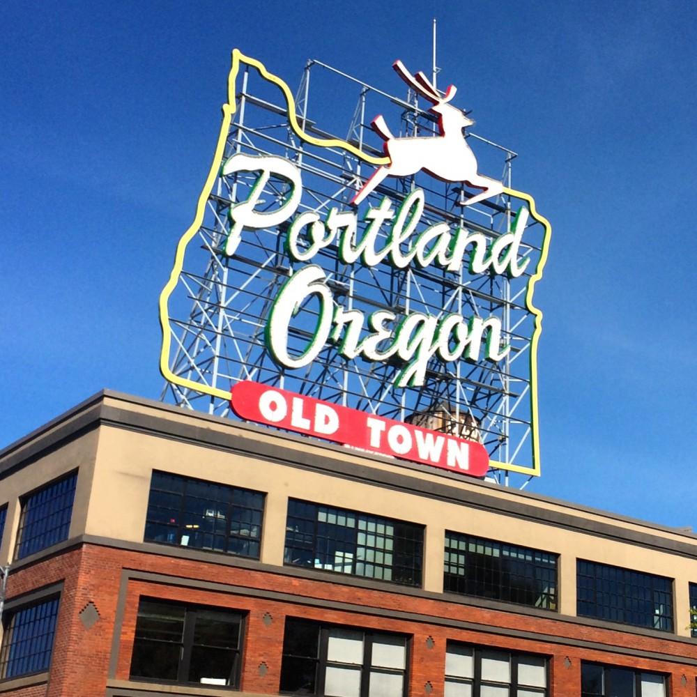 Portland Oregon Stag Sign