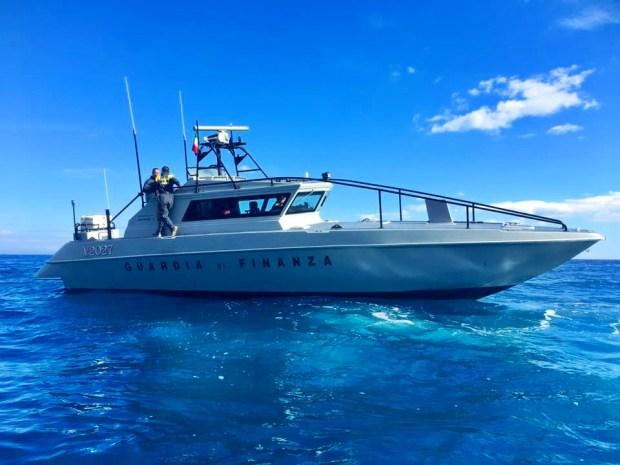 Boat Police Golfo di Orosei Sardinia Italy
