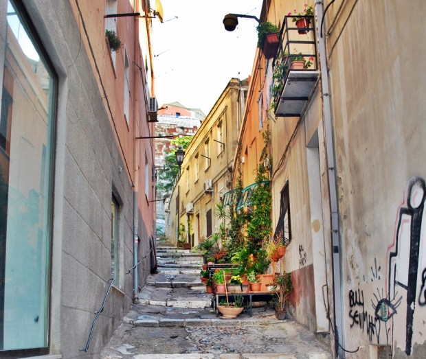 Early morning in the streets of Cagliari