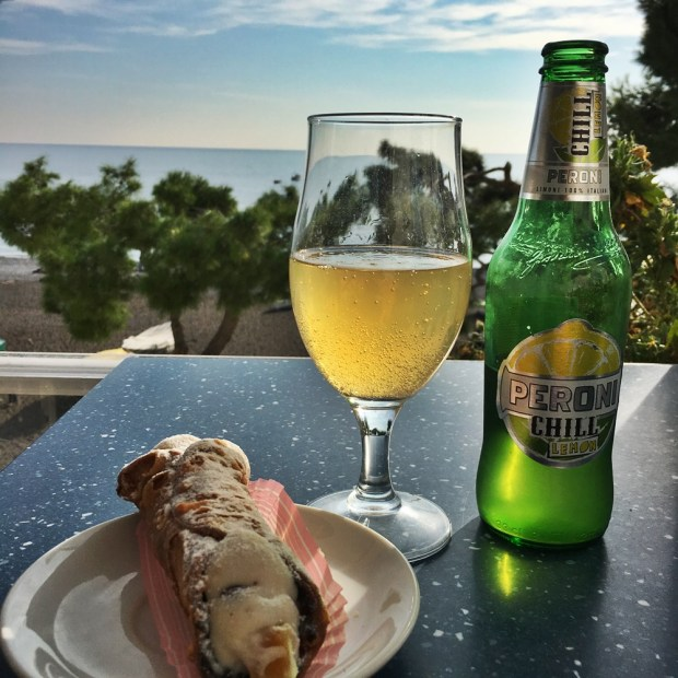 Beer and Cannolo, Positano, Italy