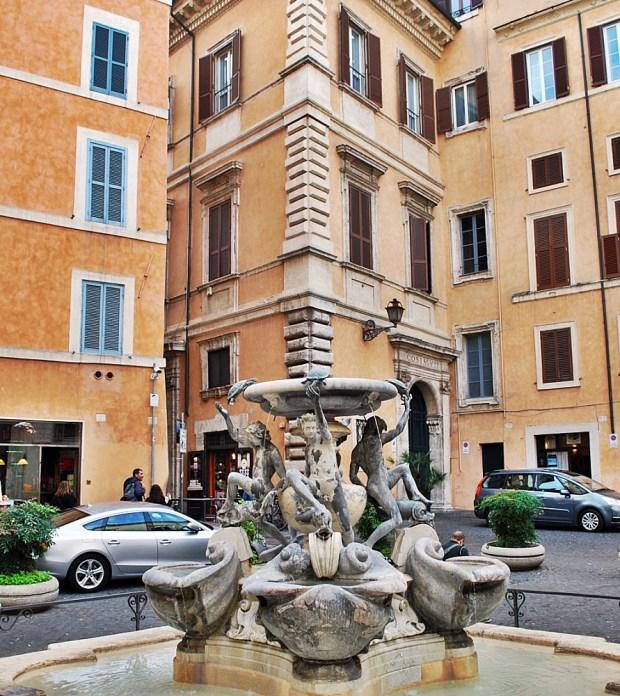 Jewish Ghetto of Rome Fountain