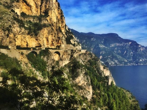 The road to Positano - Amalfi Coast Road