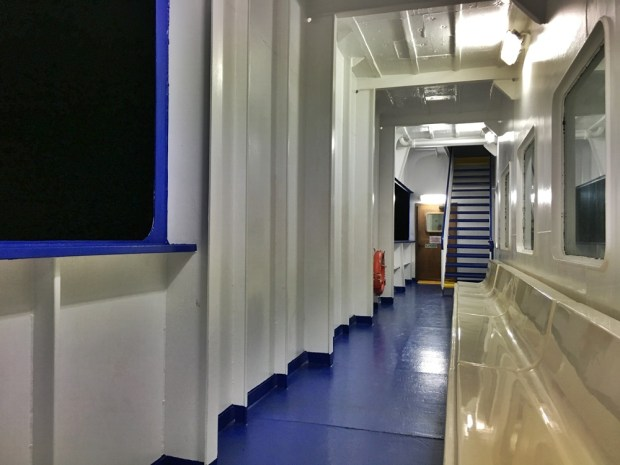 Onboard the Tirrenia ferry from Cagliari to Naples