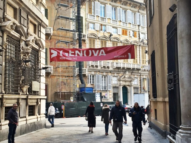 Wandering the streets of Genoa