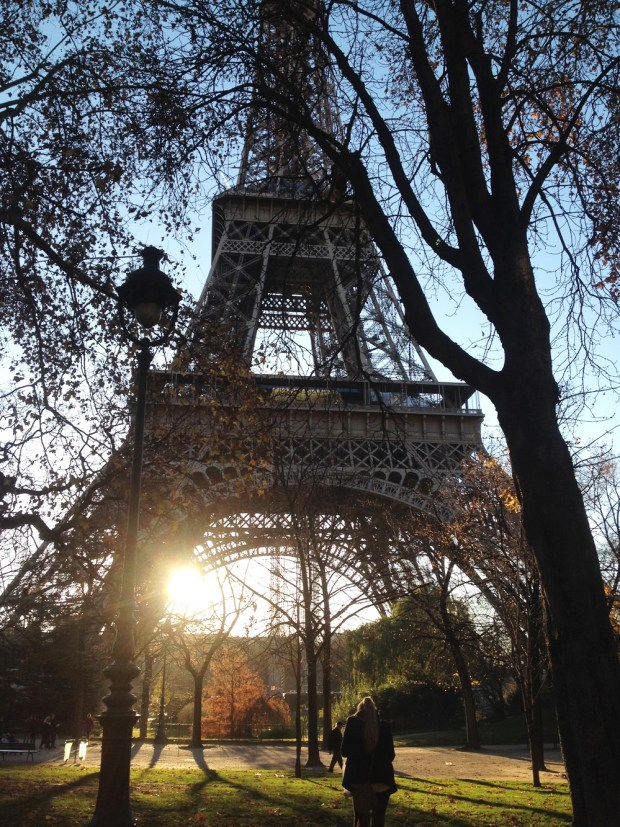 The Eiffel Tower in the beautiful Paris morning sunlight