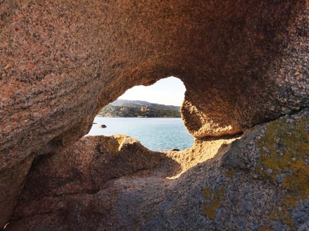 Sardinia rock window