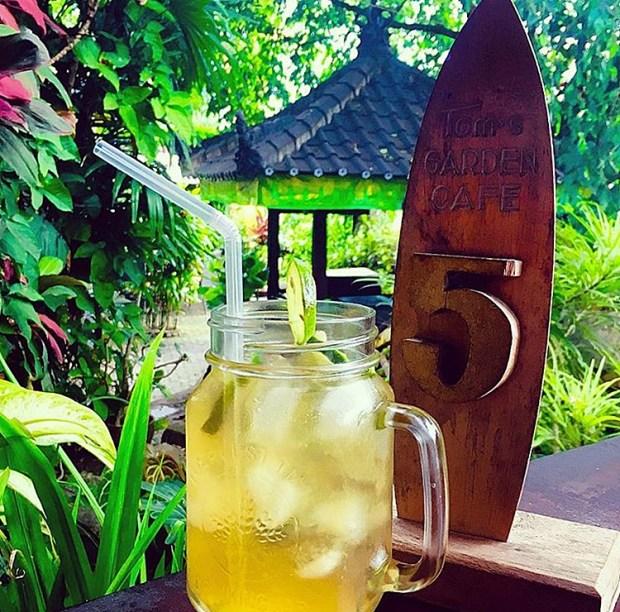 Cocktails at Tom's Garden Cafe