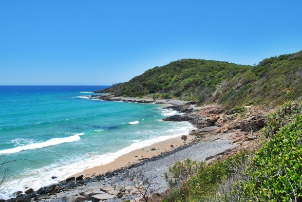 Views from the coastal path in Noosa National Park