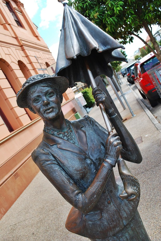 Mary Poppins statue Maryborough Queensland