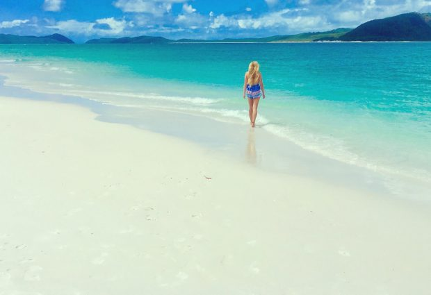 Fiona McNicol Whitehaven Beach The Whitsundays