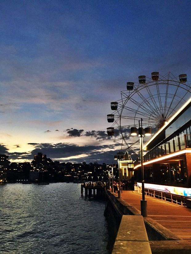 Sunset Luna Park Sydney Australia