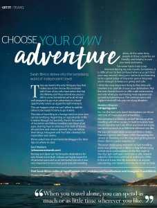 Get it travel April 2019 - choose your own adventure portrait