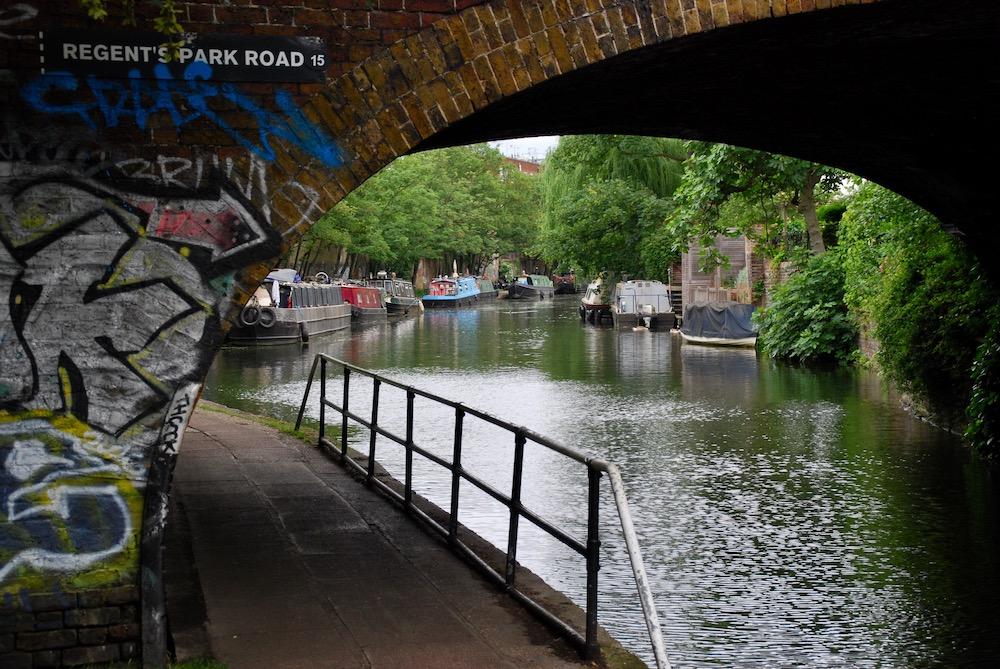 Wandelen Regent's Canal Londen Verenigd Koninkrijk