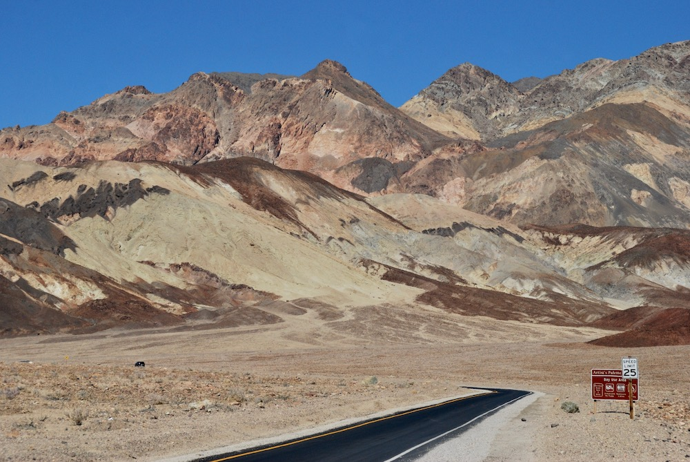 Route roadtrip Amerika Death Valley