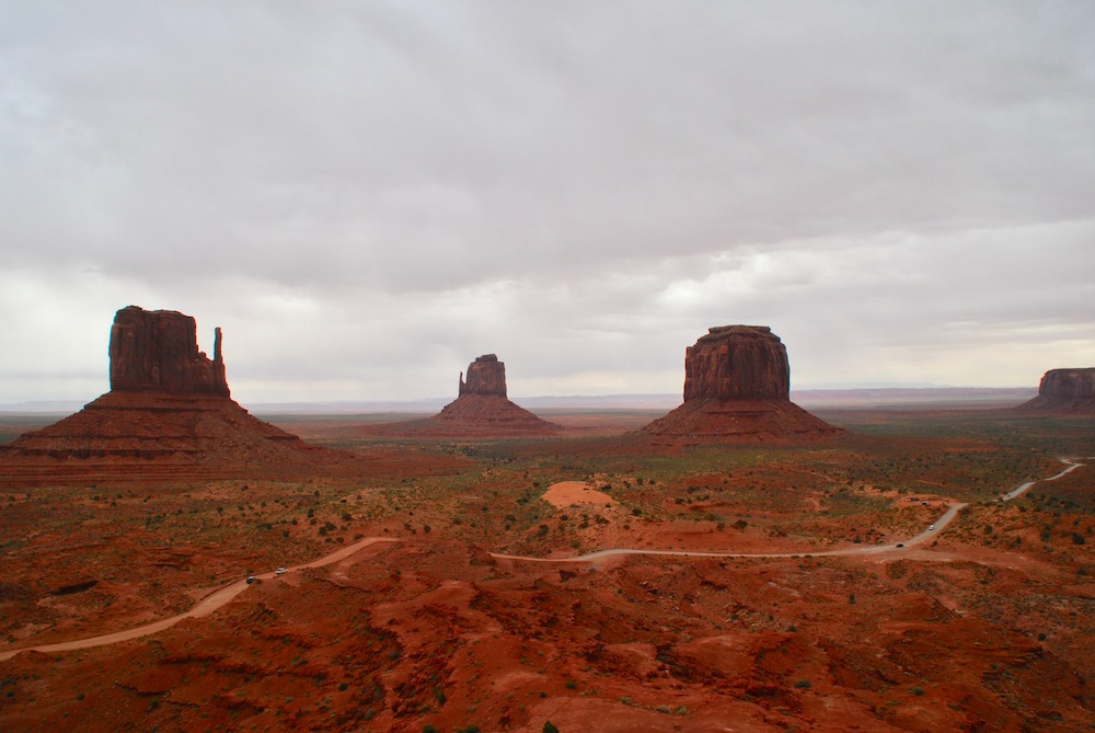 Route roadtrip Amerika Monument Valley