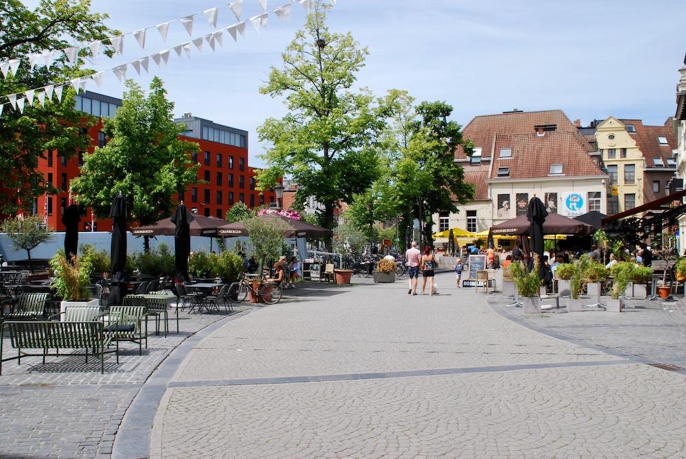 Vismarkt Mechelen België