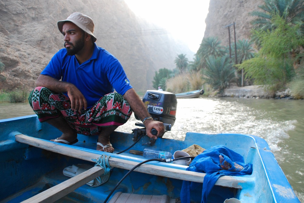 Portretten uit het Midden-Oosten Wadi Shab Oman