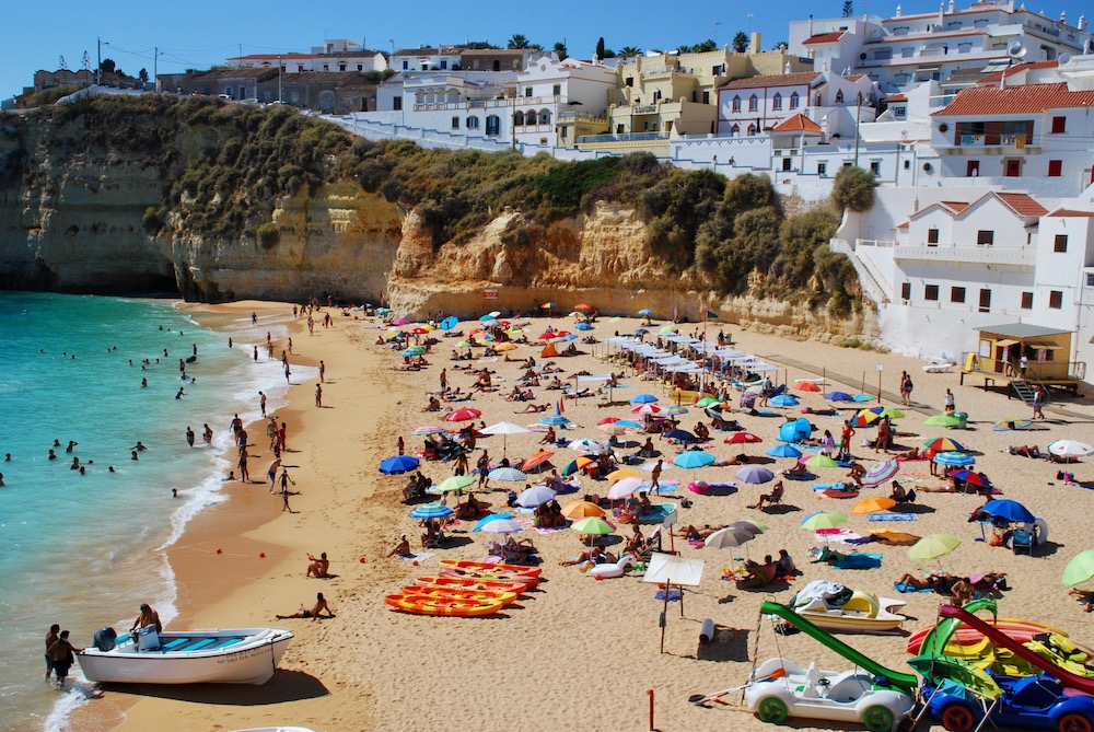 Praia do Carvoeiro Algarve Portugal