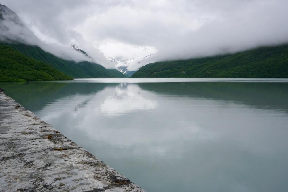 Solomon Gulch Dam and Reservoir Valdez Alaska Verenigde Staten