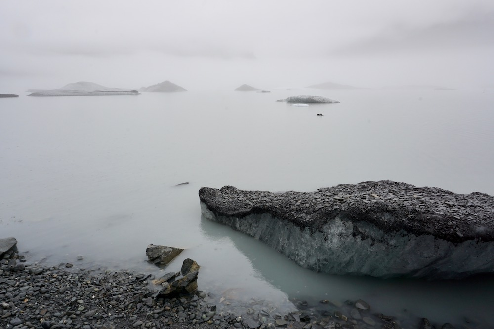 Valdez Glacier Lake Alaska Verenigde Staten