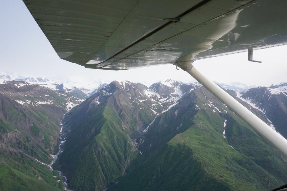 Vliegen naar Wrangell St Elias National Park Alaska Verenigde Staten